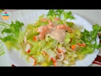Салат по-испански с Креветками - Coctel de Marisco!