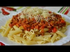 Макароны по-испански с соусом Болоньезе - Pasta con Salsa Boloñesa!