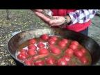 Говядина в казане с помидорами