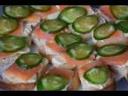 Быстрый завтрак. Бутерброды с красной рыбой. Как правильно и своевременно подать