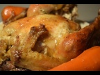 Жареная курица в духовке, под морковью. Быстрое и простое приготовление курицы. Новинка.