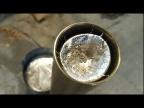 Заливаю алюминий в длинную трубу