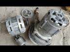 Невероятно, приделал двигатель от стиральной машины к водяному насосу