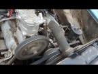 Двигатель ЗиЛ в работе. Замеряем обороты компрессора и двигателя