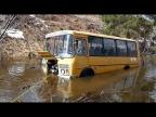 Детский автобус ПАЗ 4х4 на колёсах от ГА3-66! Поставили лебедку!