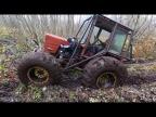 Эвакуация Турбо-Трактора своими силами! Оторвали колесо в лесу!