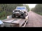 Погрузка гелика на прицеп. Вепсский лес 2012