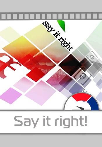 Постер к сериалу Say it Right! 2008
