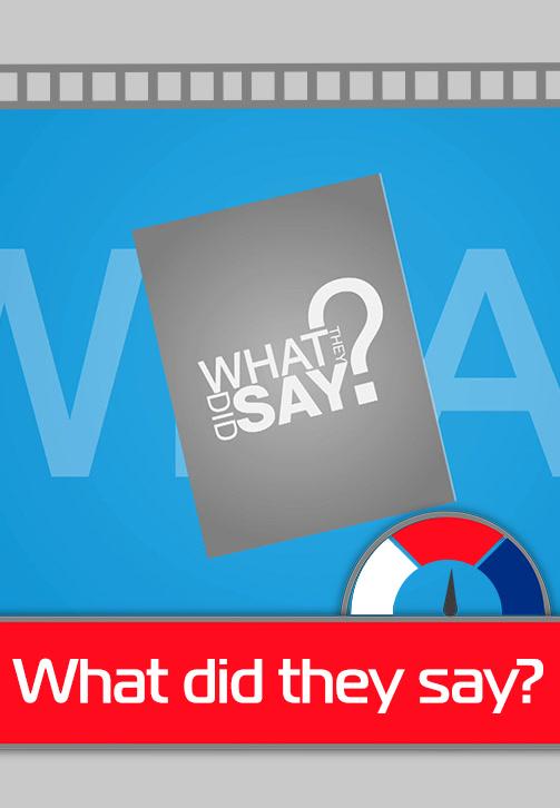 Постер к сериалу What Did They Say? 2017