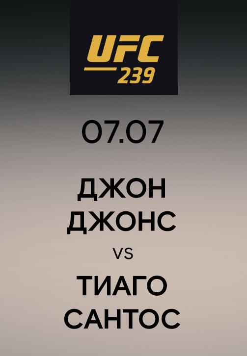 Постер к сериалу Джон Джонс vs Тиаго Сантос 2019